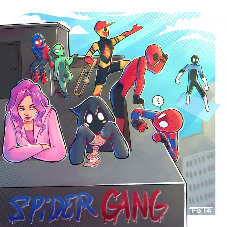 spider gang drawing