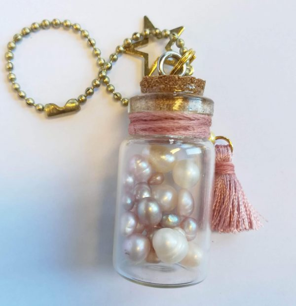Pearl Bottle Charm