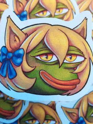 pepe but as a cat girl