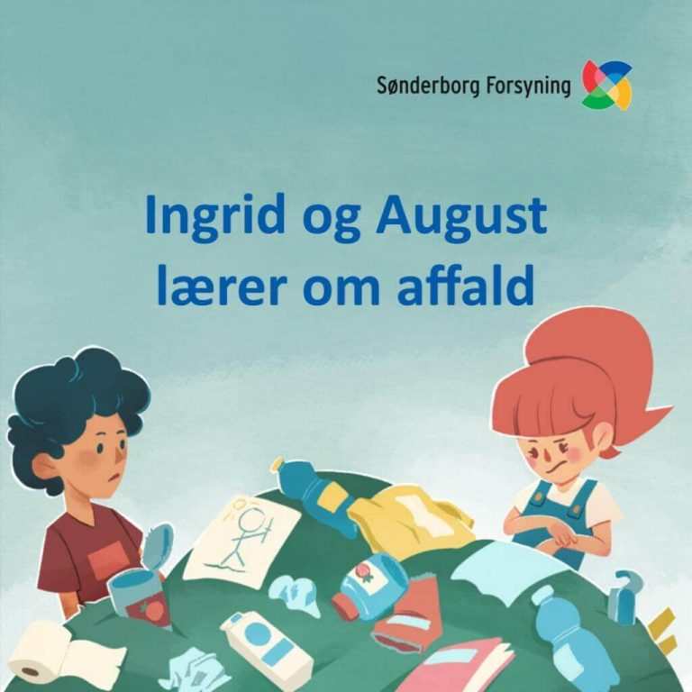 Ingrid og August lærer om affald